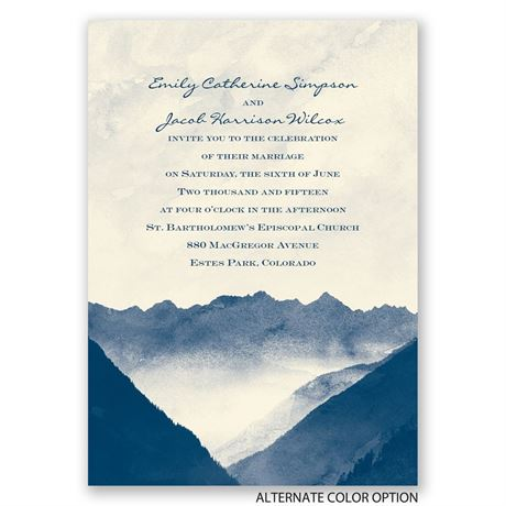 Mountain Mist - Ecru - Invitation