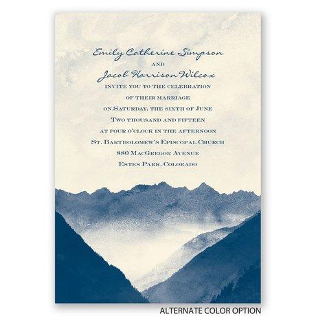 Mountain Mist - Ecru - Invitation