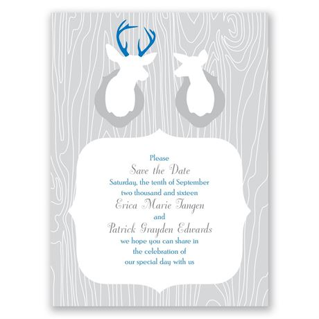 Buck & Doe Save the Date Card