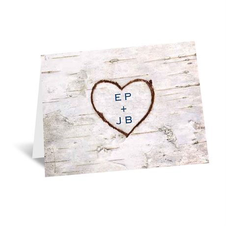 Carved in Love Note Card and Envelope
