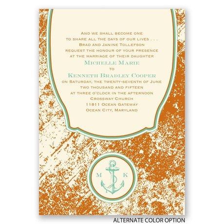 Vintage Nautical - Ecru - Invitation