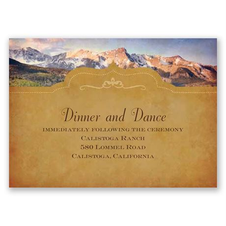 Sierra Splendor Reception Card
