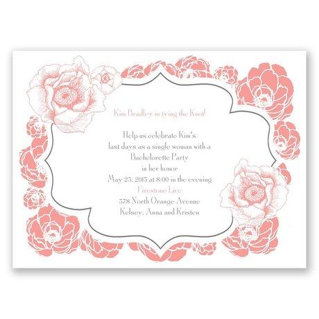 Pretty Flowers Bachelorette Party Invitation