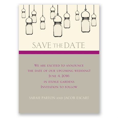 Illumination - Ecru - Save the Date Card