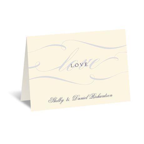 Love Never Fails - Ecru - Note Card and Envelope