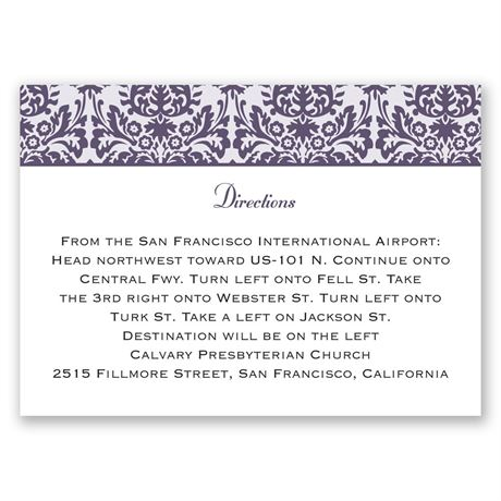 Damask Borders Map Card