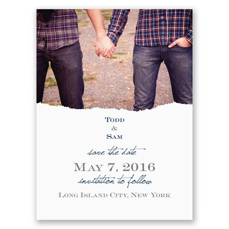 Mister and Mister Save the Date Card