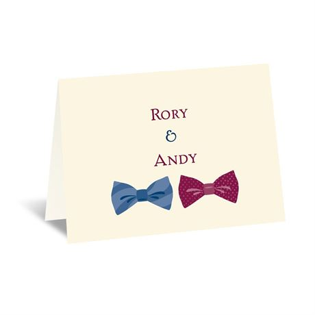 Bow Ties - Ecru - Note Card and Envelope