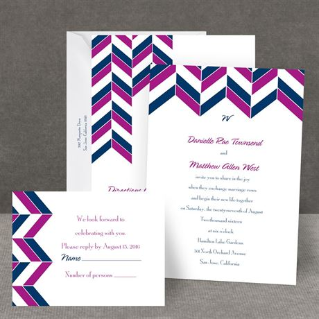 Chevron Charm All in One Invitation