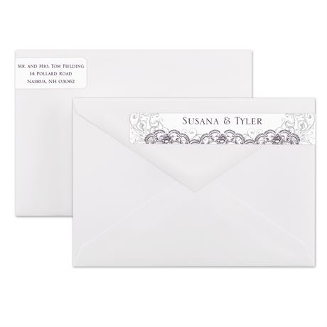 Lacy Flourishes Address Label