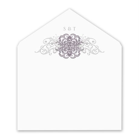 Lacy Flourishes Envelope Liner