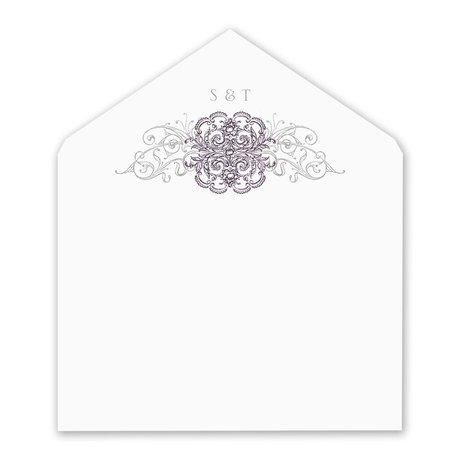 Lacy Flourishes Envelope Liner