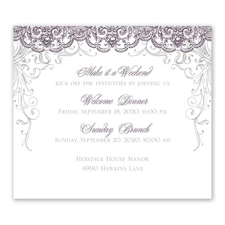 Lacy Flourishes Information Card