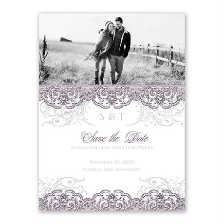 Lacy Flourishes Save the Date Card
