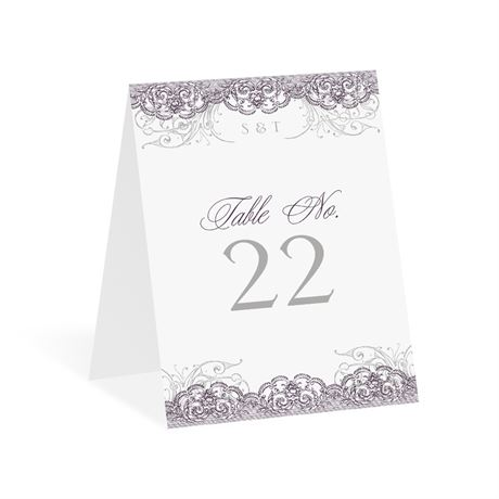Lacy Flourishes Table Number Card
