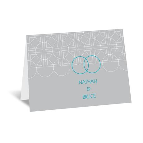 Distinguished Rings Note Card and Envelope