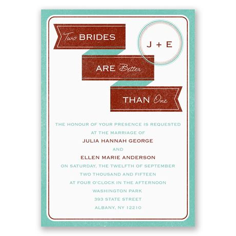 Two Brides Invitation
