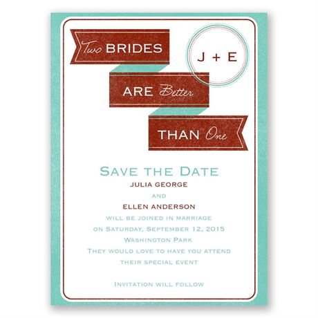 Two Brides - Save the Date Card