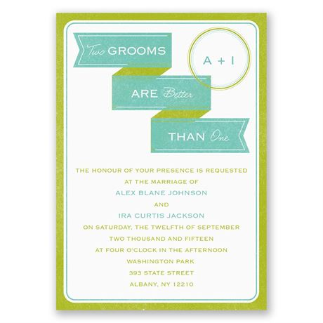 Two Grooms Invitation