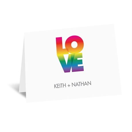 Rainbow Love Note Card and Envelope