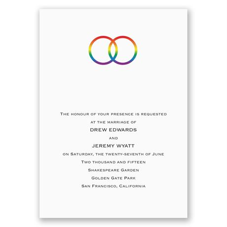 Rainbow Rings Invitation