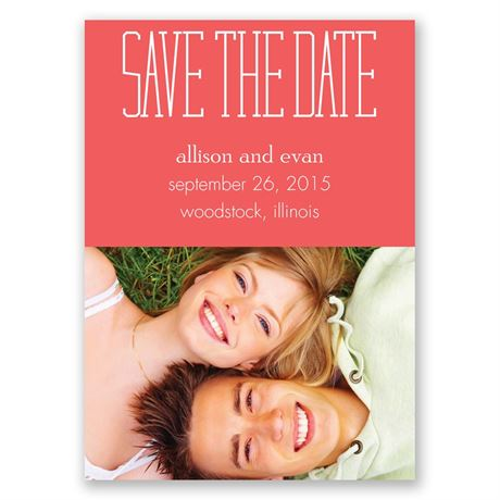 Typecasting Save the Date Magnet