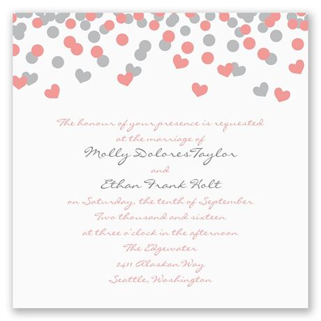 Heart Confetti Invitation