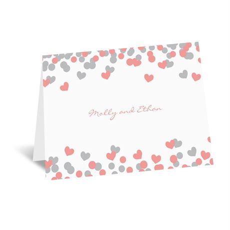 Heart Confetti Note Card and Envelope