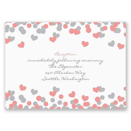 Heart Confetti Reception Card