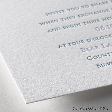 Simply Sensational - Letterpress Invitation
