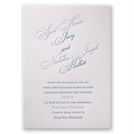 Simply Sensational Letterpress Invitation