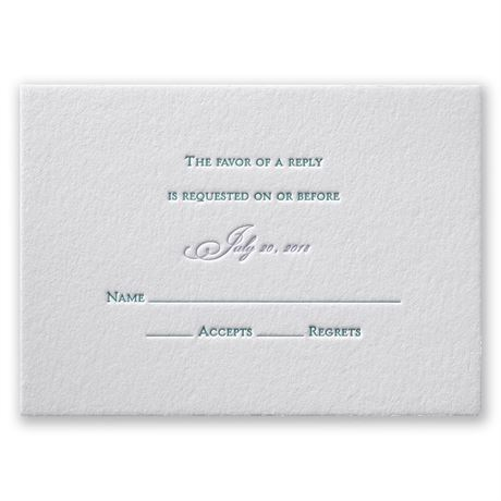 Simply Sensational Letterpress Response Card