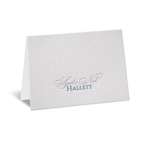 Simply Stated Letterpress Note Card