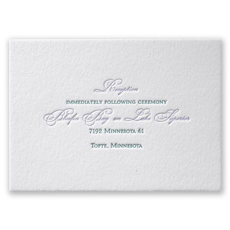 Simply Sensational Letterpress Reception Card