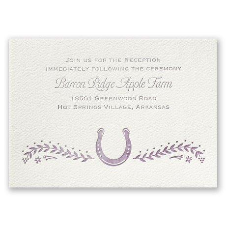 Horseshoe - Ecru - Featherpress Reception Card