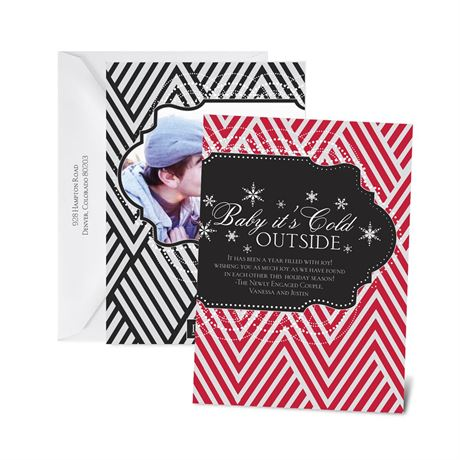 "Baby It""s Cold Outside - Black - Photo Holiday Card"