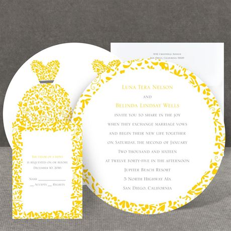 Patterned Dresses Invitation