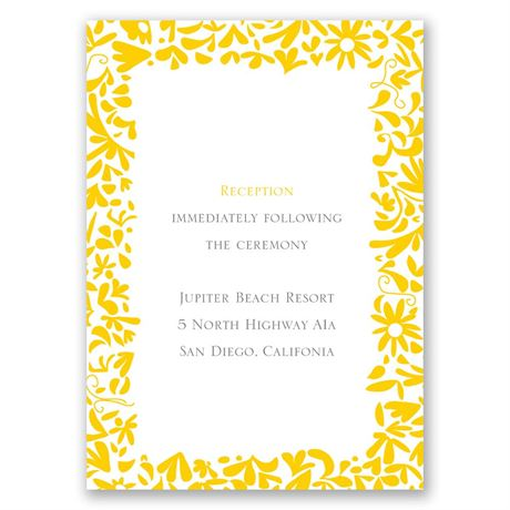 Patterned Dresses Reception Card