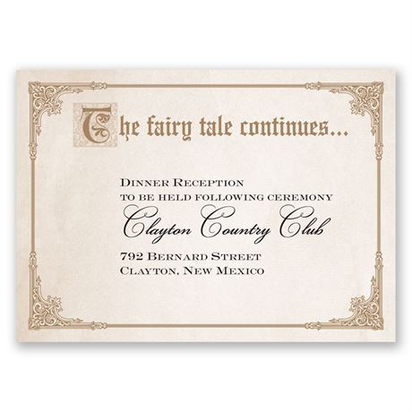 Storybook Fairy Tale Reception Card