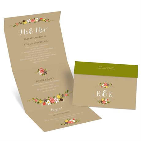 Perfect Posies Seal and Send Invitation