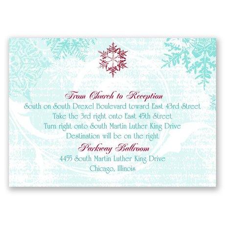Snowflakes and Swirls - Aqua - Map Card