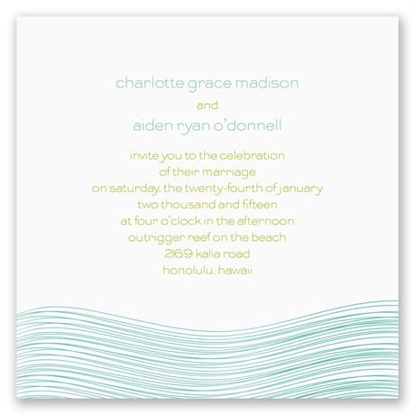 Destination Waves Invitation