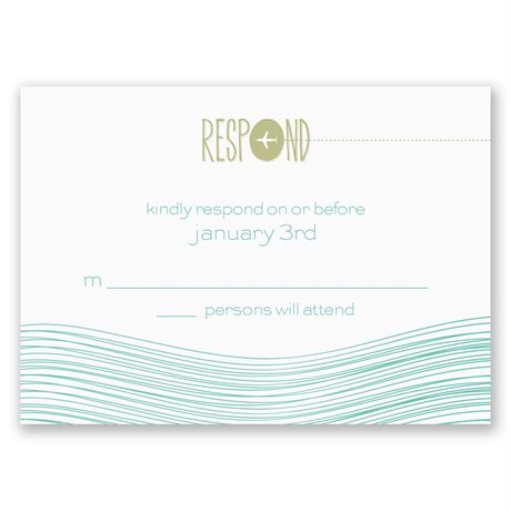 Destination Waves Response Card and Envelope