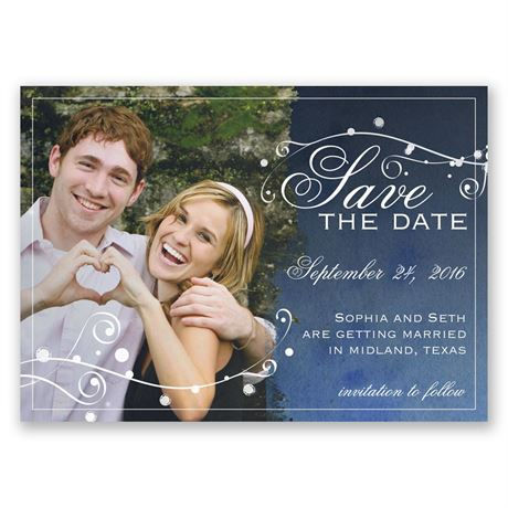 Stargazing Save the Date Magnet