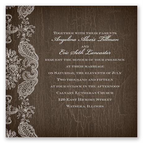 Rustic Lace Invitation