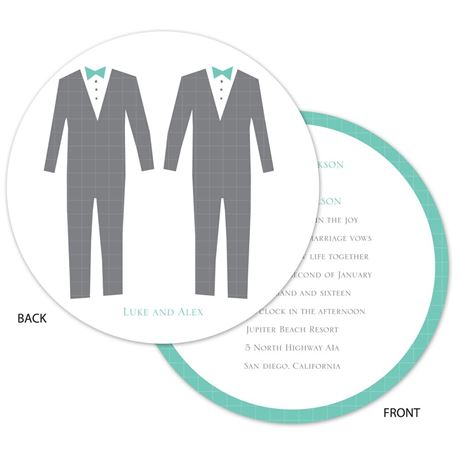 Patterned Tuxes - Invitation