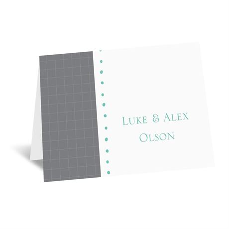 Patterned Tuxes Note Card and Envelope