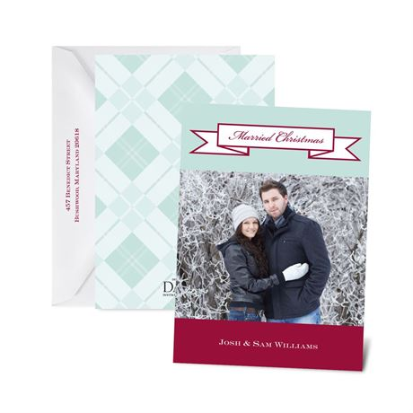 Banner Holiday Petite Photo Holiday Card