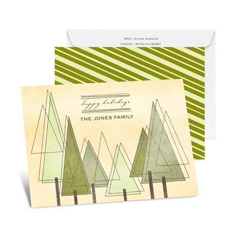 Mod Trees Petite Holiday Card