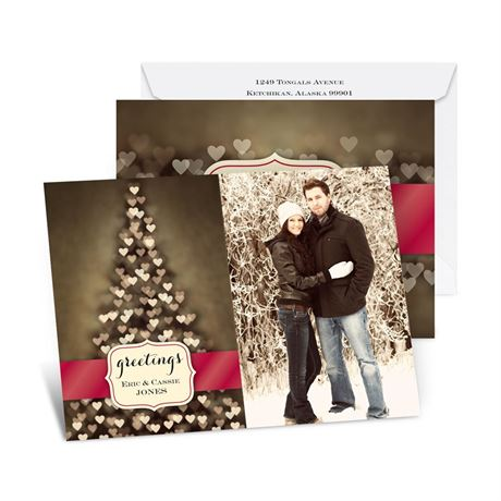 Tree of Love Photo Holiday Card